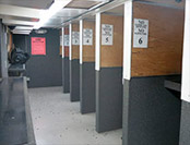 view of our shooting lanes on the range